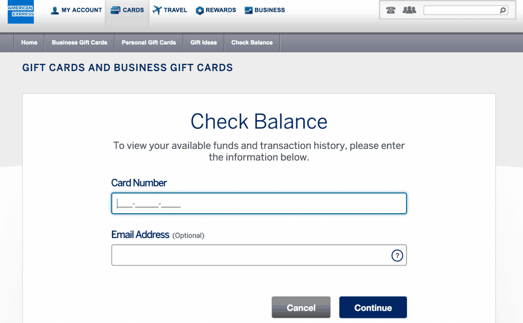 Amex Gift Card Registration, Card Activation And Check Balance Procedure